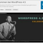 WordPress 4.5update