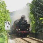 Transformator Transport mit Dampflok