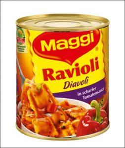 Dosen Ravioli von Maggi bein Amazon online kaufen.