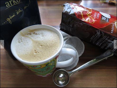 Stillleben von Kaffee Utensilien aus unserem Haushalt.