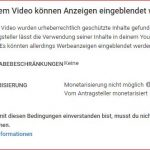 Magix Video löst bei Youtube copyright claim / Content ID-Anspruch aus