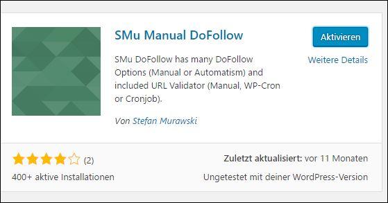 SMu DoFollow - DoFollow Kommentare Plugin mit Footprint