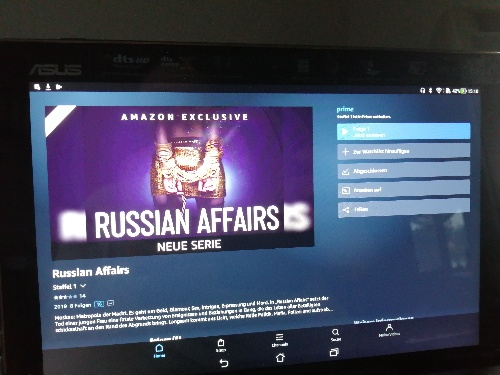 Amazon Serie Russian affairs